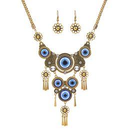 $enCountryForm.capitalKeyWord Australia - Vintage Turkey Blue Eyes Necklace For Women Personality Harajuku Choker Statement Pendant Necklace Gold and Silver Fashion Jewelry CX572