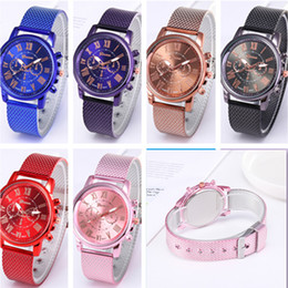 geneva men business watch 2021 - Women Men GENEVA watch Plastic Mesh Belt Quartz Waist watches Fashion Dual Colors Rubber Strape Watch for Casual Sports