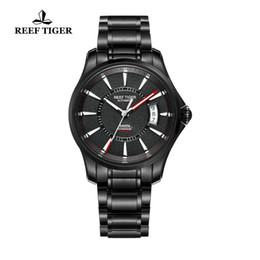 Luminous big man watch online shopping - RT Watch Seattle Sports For Men Automatic Watches Super Luminous Big Date Black Steel Watches