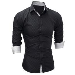 $enCountryForm.capitalKeyWord Australia - New Men Long Sleeve Casual Shirt Fashion Tuxedo Shirt Solid Color Slim Fit Black Mens Dress Shirts Camisa Social Masculina Y190506