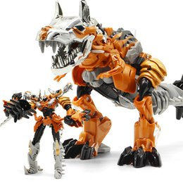 Toy Boy Movie Australia - Oversize 25CM Transformation Movie 5 Toy Cool Black Dinosaur Action Figure Anime Robot Plastic ABS + Alloy Classic Toy Boy Gift Y190530