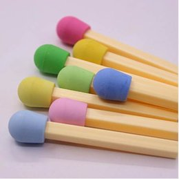 New Items For Kids Australia - New 8 PCS pack Cute Kawaii Matches Eraser Lovely Colored Eraser for Kids Students Kids Creative Item Gift Free shipping