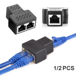 $enCountryForm.capitalKeyWord Australia - 1 To 2 Ways RJ45 Ethernet LAN Network Splitter Double Adapter Ports Coupler Connector Extender Adapter Plug Connector