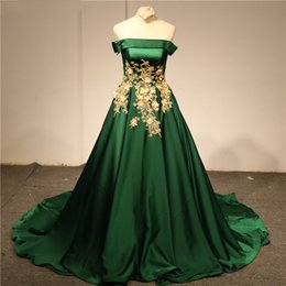 Lace Up Gold Prom Dresses Australia - 2019 Green High-end Strapless Sexy Plus Size Evening Dresses Beading Pearls Fashion Satin Lace Up Prom Evening Gowns Graduation Dresses
