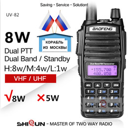 ptt radios Australia - walkie talkie 10 km Upgrade -82 8W 82 Walkie Talkie 10 KM Baofeng 8W Radio Dual PTT UV-XR UV-9R