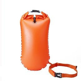Wholesale Inflatable Flotation Bag Life Buoy PVC Waterproof Dry Bag Swimming Backpack Kayak Rafting Drifting Camping Hiking Rucksack SS