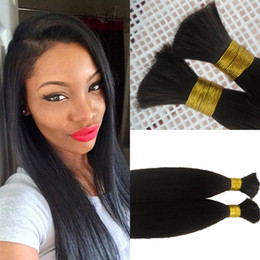 18 Inch Human Hair For NZ - Indian Bulk Hair Straight Bulk For Braiding Human Hair Extensions 8-26 Inch In Stock Natural Color FDSHINE