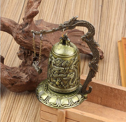 $enCountryForm.capitalKeyWord Australia - Small bronze lock and Shang Long bang bell can ring dragon bell ornaments Feng Shui decorations crafts collection direct dragon