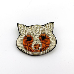 c59c3b44960 gift cartoon Brooch Pins patch For Clothing backpack decoration hand  embroidery made high quality Indian bullion material cute bear