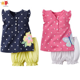 Shorts For Girls NZ - good quality Cute Children's Sets for Summer Girls T-shirts + Shorts Cool fabric Kids Toddler's Clothes Baby Set