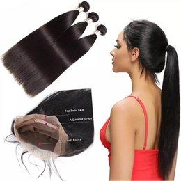Discount raw indian straight virgin hair - Perstar Wholesale Raw virgin Indian hair bundles with frontal Raw Indian Human Hair 360 lace frontal with bundles online