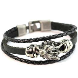 mens gold anchor Australia - Fashion Anchor Leather Designer Bracelet Hand Woven Multilayer Mens Bracelet Luxury Alloy Bracelets Hip Hop Jewelry Free Shipping