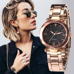 $enCountryForm.capitalKeyWord Australia - Personality Romantic Women Watches Best Sell Star Sky Dial Clock Rose Gold Bracelet Wrist Ladies Watches reloj mujer
