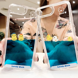 cases for iphone 5s 3d Australia - Luxury Cartoon 3D Swimming Duck Animal Dynamic Liquid Quicksand Cover Case For iPhone 11 Pro Max 5 5S 5SE 6 6S 7 8 Plus X XS XR Phone Cases