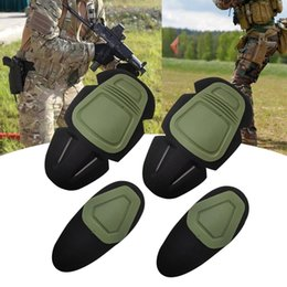 $enCountryForm.capitalKeyWord Australia - New Tactical Knee and Elbow Protector Pad For Combat Uniform Military Suit, 2 knee pads & 2 elbow pads Set Tactical Knee Pads #200237
