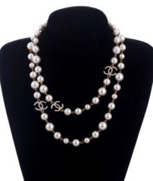 Опт Горячие женщины мода ожерелье натуральный жемчуг ожерелье свитер многослойные бриллиантовое ожерелье импорт Кристалл брошь свадебные ювелирные изделия ювелирные изделия