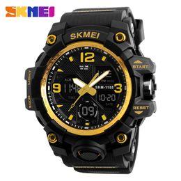 Big Watch Men Waterproof NZ - SKMEI Watch Men 2019 Waterproof Quartz Men's 55MM Big Dial Sport Watches Digital Analog Watch For Men reloj hombre