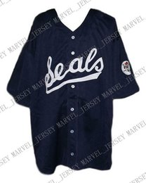 navy blue baseball jerseys UK - Cheap Custom Joe Dimaggio San Francisco Seals Baseball Jersey 1933 Navy Blue Stitched Any player jersey college baseball jersey XS-5XL