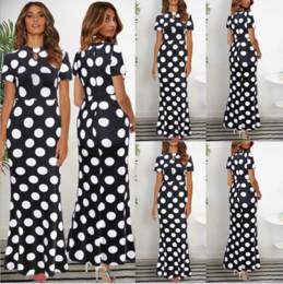 Prom Dresses Polka Dots Australia - Womens Polka Dot Maxi Dress Prom Evening Party Summer Beach Casual Long Sundress