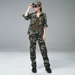 silver pant suits women NZ - Free Knight Women Outdoor camping Army female Multi pocket clothing CS camo Hiking tactical jacket pant 101 uniform suit