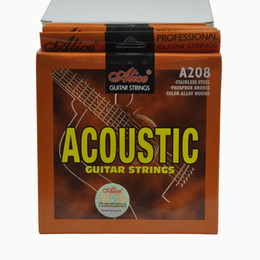 Wound string online shopping - 6Sets Alice Acoustic Guitar Strings Phosphor Bronze Color Alloy Winding Strings Set A208L