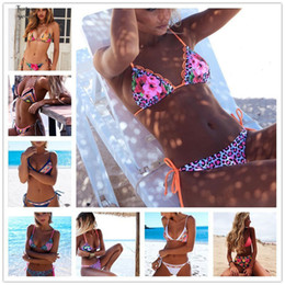 Hot women swim wear online shopping - 2019 New Bikinis Sexy Print Swimwear Women Hot Summer Bandage Wear Bathing Suit Push Up Brazilian Biquinis Swim Bikini