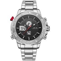 Watch steel japan movt online shopping - WEIDE WH6108 custom stainless steel band atm waterproof japan movt lcd digital men sport watches