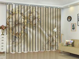 Beautiful Bedroom Curtains Canada - Custom Curtain Jade Flower Jewelry Diamond Leaf 3D Floral Curtain Living Room Bedroom Beautiful Practical Shade Curtains