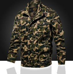 $enCountryForm.capitalKeyWord NZ - Spring new men's Clothing outdoor camouflage multi-pack tooling jacket cotton youth Outerwear Coats uniform