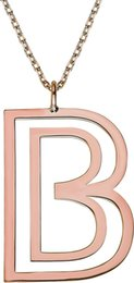 special roses UK - Chavin Oversized initials letter to the Special Silver Rose Necklace Gk022