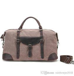 $enCountryForm.capitalKeyWord NZ - sales Restoring ancient ways is the large capacity leather bag Outdoor leisure canvas men handbag Fashion crazy horse leather laptop bag