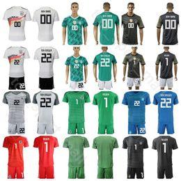 20424003b Germany Goalkeeper GK 1 Manuel Neuer Jersey Men Soccer Set 22 TER STEGEN 12  TRAPP 1 Oliver Kahn Football Shirt Kits Uniform