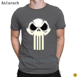vintage style clothing men Canada - The Punisher King Tshirts Vintage Summer Style Slogan Character Tshirt For Men New Cheap Sale Clothing Round Collar