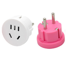 euro socket adapter UK - Travel Wall AC Power Plug Wall Charger Outlet Adapter Converter 2 Round Pin Socket US AU To EU Plug USA AUS To Euro Europe