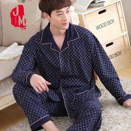 Discount cardigan shirt sets - Sleep Cotton Men Pyjama Set Spring Cardigan Pajama Man Full Sleeve Solid Pajama Male Turn-down Collar Autumn Pijama Men