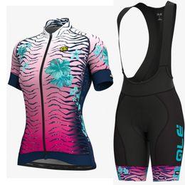 $enCountryForm.capitalKeyWord NZ - 2019 Summer Pro Team ALE women Cycling Clothing Short Sleeve Top Cycling Jerseys Bib Shorts sets Clothes Maillot Ropa Ciclismo