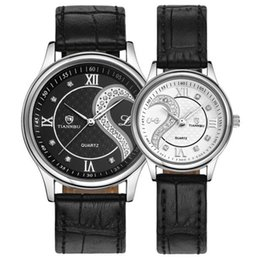 luxury ultrathin watches NZ - 2019 Top Brand Luxury TIANNBU1 Pair 2pc Tiannbu Ultrathin Leather Romantic Fashion Couple Wrist Watches gift A3