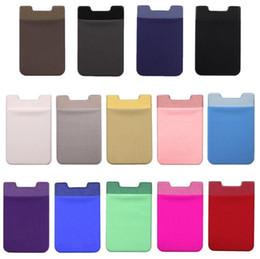 $enCountryForm.capitalKeyWord Australia - Universal Elastic Lycra Mobile Phone Case Wallets Credit ID Card Holder Pocket Adhesive Sticker for iPhone X XS MAX XR Plus Samsung Huawei