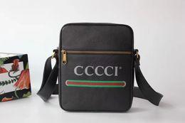 Designer Logo Handbags NZ - Designer-Litchi pattern Shoulder bags Men brand real leather printed crossbody handbag Messenger bag For man 21*25.5*8cm #523591 with logo