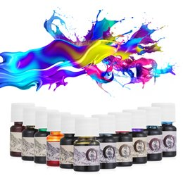 Painting Signatures NZ - 5ml Colored Ink Stationery Painting Ink Signature Pen Non-carbon for Fountain Dip Pen Calligraphy Writing Painting Graffiti