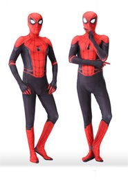 $enCountryForm.capitalKeyWord NZ - Fashion Spider-man Cosplay Cool Jumpsuits Unisex Children Adult Cartoon Doll Theatrical Costume Funny Marvel Characters Coveralls