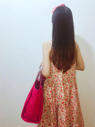 $enCountryForm.capitalKeyWord Australia - Newest Women summer bag popular Design Handbags Multi Color Beach bags Shoulder Handbag Shopping Bags big Capacity Lady fashion chain bag