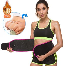 fitness waist shaper Canada - Waist Trimmer Women Weight Loss Belt Stomach Shaperwear Sweat Wrap Gym Fitness Waist Trainer Female Body Shaper Slimming Belt