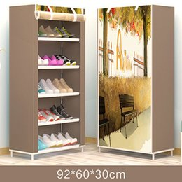 bathroom cabinet shelves UK - On Sale Cheapest Russia Stock Shoe Rack Cabinet Shoe Rack Space Saver Boot Organizer Shelf Home Furniture DIY Assembly Non-woven Y200527