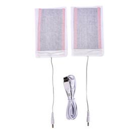 China 2PCS Set 5V Winter Carbon Fiber Heating Pad USB Heating Film Electric Infrared Fever Heat Mat Warm Arm Hand Waist Heated Glove cheap infrared carbon fiber suppliers