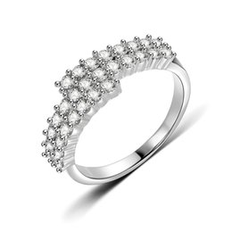 Discount engagement ring finger for female - Temperament Cubic Zirconia Engagement Finger Rings For Women Couple Silver Cross Knuckle Ring Female Sterling-silver-jew