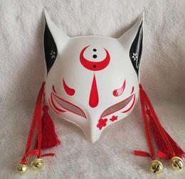 $enCountryForm.capitalKeyWord Australia - Half Face Hand-Painted Fox Mask Christmas Halloween Dress Up Props Action Figure Masquerade Mask Toy Gift