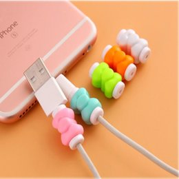 $enCountryForm.capitalKeyWord NZ - 100pcs colorful cute USB Earphone Wire Cord Winder Protection Cover Data Charger Line Protective Sleeve For Apple for Iphone