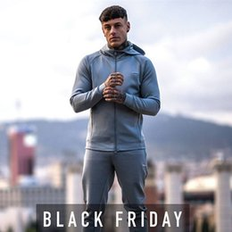 Body Fitness Suit Australia - Men Jogging Suit Running Gym Sportswear Tracksuits Fitness Body Building Mens Hoodies+Pants Sport Outwear Clothing Suit Male #121746