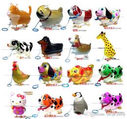 Pet Xmas Gifts Australia - Lot Of 100 pcs Walking Pet Balloon Child's Toy Walking Animal Balloons Children Toys Xmas Gift Party Decoration